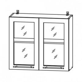 ЛОФТ ДСВ ШВС-800 шкаф навесной со стеклом