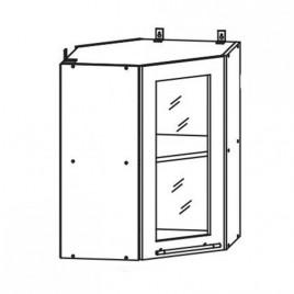 ЛОФТ ДСВ ШВУС-550 угловой навесной шкаф со стеклом
