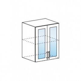 Техно шкаф верхний со стеклом ШВС-600