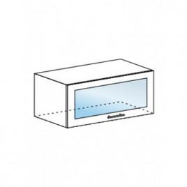 Техно шкаф горизонтальный со стеклом ШВГС-800