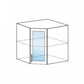 Техно шкаф верхний угловой со стеклом ШВУС-600