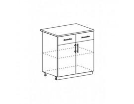 Техно шкаф нижний с 2 ящиками и створками ШН1Я-800