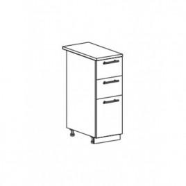 Техно шкаф нижний с 3 ящиками ШН3Я-300