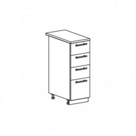 Техно шкаф нижний с 4 ящиками ШН4Я-300