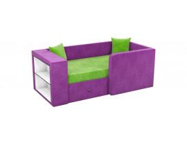Кровать Орнелла - Вельвет фиолетовый зеленый цвет