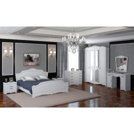 Модульный спальный гарнитур Лотос белый