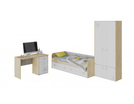 Набор детской мебели «Мегаполис» стандартный (Бунратти/Белый)
