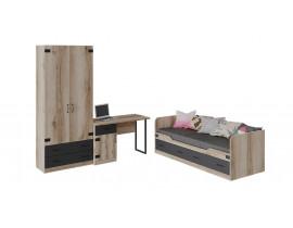Набор детской мебели «Окланд» стандартный (Черный/Дуб Делано)